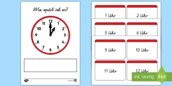 Die Analoguhr: Wie spät ist es? Karten zum Sortieren - Uhrzeit, Uhr, Zeit, Analoguhr, Analog, lesen, erkennen, Zeit lesen, Zeit schreiben, Zeit erkennen, Z