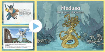 Medusa - The Quest of Perseus PowerPoint - story, myths, legends, history, Gorgon.
