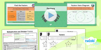 PlanIt Maths Y4 Multiplication and Division Lesson Pack Factors and Commutativity (1)