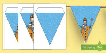 St Swithin's Day Display Bunting - Saint, Weather, Rain, Legend, bishop