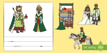 The Princess and the Pea Stick Puppets - The Princess and the Pea, stick puppet, prince, queen, princess, pea, castle, fairytale, traditional tale, Hans Christian Andersen, story, story sequencing,