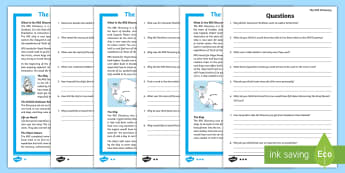 RRS Discovery Differentiated Reading Comprehension Activity - Antarctic, Expedition, Explorer, Polar, Ship, Scott,Scottish