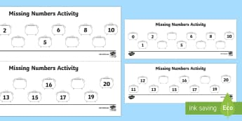 Missing Numbers to 20 on Cauldrons Activity Sheet - counting to 20, ordering to 20, ordering numbers, activity sheet, worksheet, worksheet, halloween, w