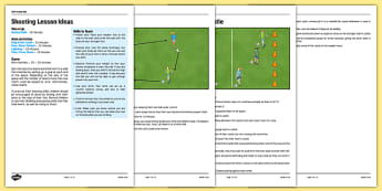 UKS2 Football Skills 3 Shooting Lesson Pack - football, PE, sport, exercise, KS2, UKS2, Key Stage 2, year 5, year 6, skills, physical education, ball skills, team sports