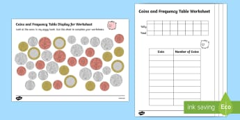 Coin Recognition Worksheets - coin counting worksheets, counting, counting and addition worksheets, money, money worksheets, money work, ks2 coin work