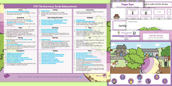 EYFS The Enormous Turnip Enhancement Ideas and Resources Pack - planning, Early Years, continuous provision, early years planning, adult led, fairy tales, traditional tales, vegetables