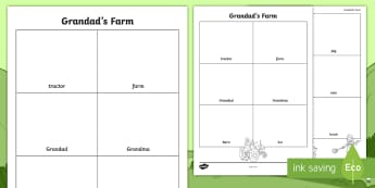 Grandad's Farm Picture Dictionary Activity Sheet - exploring my world, aistear, grandads, farm, literacy, spelling, picture, dictionary, worksheet, Iri
