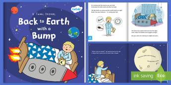 Back to Earth with a Bump eBook - space, story, travel, planet, Sun, fiction, KS1, little boy, adventure, earth, science