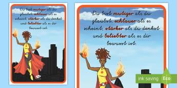 Du bist mutiger als du glaubst Motivierendes Poster für die Klassenraumgestaltung  - Mutig, Inspiration, Motivation, Deko, lesen, lernen, rechnen,,German