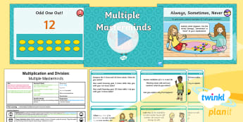 PlanIt Maths Y2 Multiplication and Division Lesson Pack Odd and Even Patterns - Multiplication and Division, arrays, reasoning, explaining,  patterns, exploring, making a rule or g