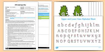 EYFS Carrot Top Alphabet Adult Input Plan and Resource Pack