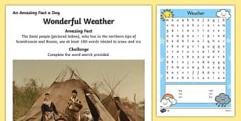 Wonderful Weather Activity Sheet, worksheet