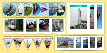 Transport Pictures Resource Pack - Picture Cards, travel, journey, memory