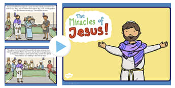 The Miracles of Jesus Bible Stories PowerPoint - christianity