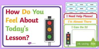 Visible Learning Reflection Traffic Lights Display Posters - EYLF, Foundation, Visible Learning, feedback, reflection, feelings, kindergarten, preschool, Kinder,