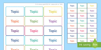 Magazine File Topic Labels - Maths, Labels, Subjects, Stickers