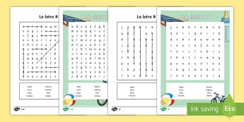 Sopa de letras: la letra B - ortografía, sopa de letras, la letra b, b, palabras que empiezan con b, cómo se escriben