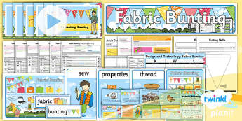 D&T: Fabric Bunting KS1 Unit Pack