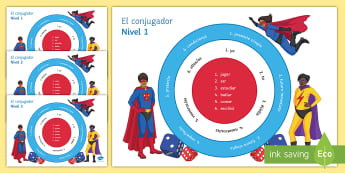 Verb Conjugator Differentiated Game Spanish - grammar, conjugation, tenses, verbs, differentiation, revision