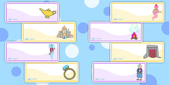 Aladdin Editable Drawer Peg Name Labels - aladdin, labels, names