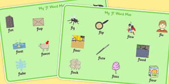 FL Word Mats - sen, sound, special educational needs, fl, word mats