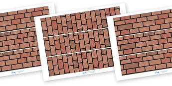 Materials Display Border (Brick Wall) - materials, science, display border border, classroom border,investigation, material properties, shiny, dull, rough, smooth, bumpy, wood, plastic, glass, stone, transparent