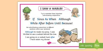 Subordinating Conjunctions KS2: What Is a Subordinating Conjunction? Word Mat - subordinating conjunctions KS2, what is a subordinating conjunction, conjunction, subordination, sub