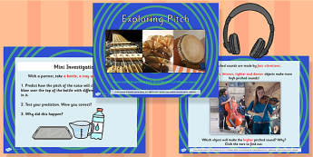 Exploring Pitch Powerpoint Task Setter and Acitivity Pack