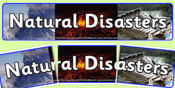 Natural Disasters Display Banner - display, banner, natural