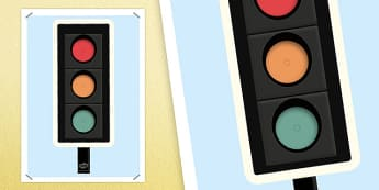 Large Traffic Light for Display - large, traffic light, display, traffic