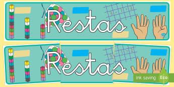 Pancarta - Restas