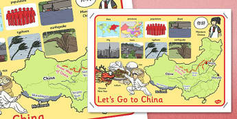 Let's Go to China Large Display Poster - china, display poster, display