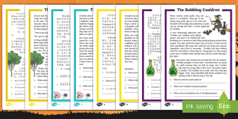 Halloween Differentiated Reading Comprehension Activity Pack English/Mandarin Chinese - Halloween, October, festival, autumn, understanding, reading, EAL