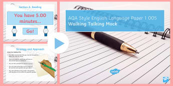 AQA Style Paper 1: Walking Talking Mock PowerPoint to Support Teaching On Exam Paper 005 - walking talking Mock, Mock, AQA, language paper, GCSE English, KS4 English, KS4 mocks