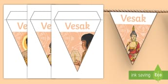 Vesak Display Bunting - vesak, wesak, buddah, buddism,