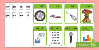 Phase 5 Digraphs wh, ph Matching Peg Activity - Letters And Sounds, Blend, Decode, Phonics, blends