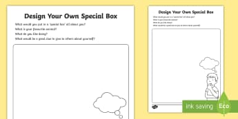 My Special Box About Me  Worksheet / Activity Sheet - Worksheet, Transition, EYFS, Classroom Displays, All About Me, Getting To Know You