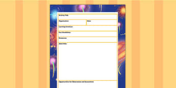Bonfire Night Themed Adult Led Carpet Based Activity Template