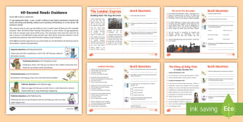 60-Second Reads: The Great Fire of London Activity Cards - 90 Words A Minute, Ninety Words, Reading, Guidance, Year 2, Y2, One Minute Reading