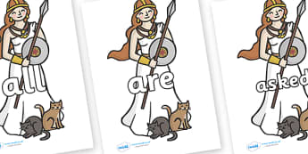 Tricky Words on Viking - Tricky words, DfES Letters and Sounds, Letters and sounds, display, words