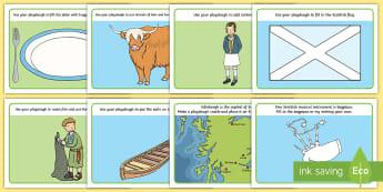St. Andrew's Day Activity Playdough Mats - scotland, scottish, st. Andrew, activities, resources,Scottish