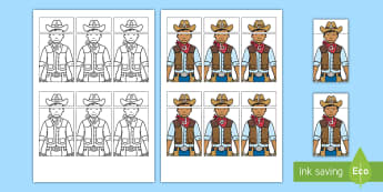 Cowboy Alphabet Matching Activity - texas, texas independence day, state of texas, letter knowledge, uppercase letters, lowercase letter
