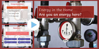 Calculating Energy Quiz PowerPoint - PowerPoint Quiz, Energy, Calculating, Watt, kWh, Joules, Work, Power
