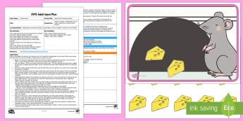 EYFS Quiet Mice Counting Activity Adult Input Plan and Resource Pack - Maths, Number, Represent, Fingers, Marks, Pictures, Amount, Early Years Planning, Foundation, Adult