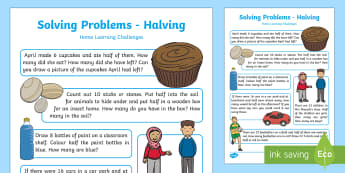EYFS Maths: Solving Problems – Halving Home Learning Challenges - EYFS, Number, ELG, mathematics, early years, EYFS Planning, teaching, activities, maths, small group