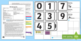 EYFS Making a Pictorial Number Line Adult Input Plan and Resource Pack - Maths, Number, Represent, Fingers, Marks, Pictures, Counting, Amount, ICT, Understanding the World,