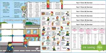 Year 4 Building Brick Themed Spelling Menu Pack - spag, gps, home learning, weekly, lists, test, spelling rules, planning