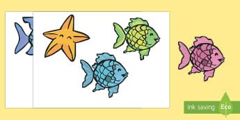El pez arcoiris Marionetas de palo