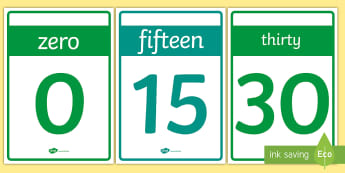 Numbers 0-20 Cards - numbers, 1-20, 0-20 n,  numeracy, maths, display, learn, activity