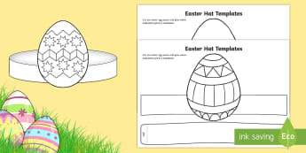 Easter Hat Templates Activity Sheet - easter, easter hats, hat templates, easter hat templates, easter hat parade, worksheet, easter hat ,